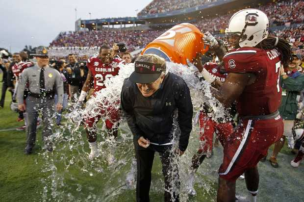 Spurrier Gatorade Bath