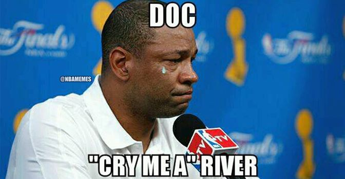 Doc crying a river